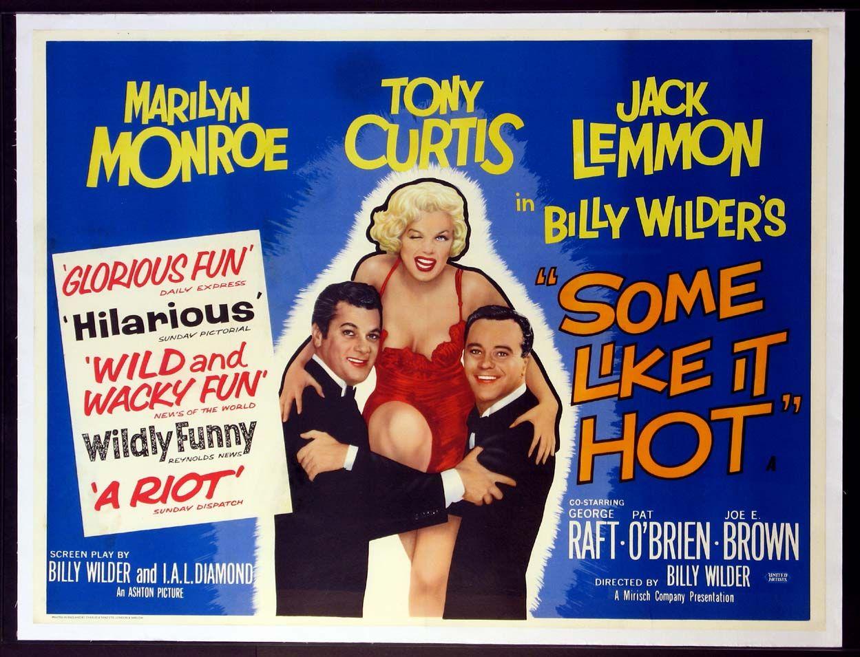 SOME LIKE IT HOT (1959) Original British Quad size, 30x40 movie ...