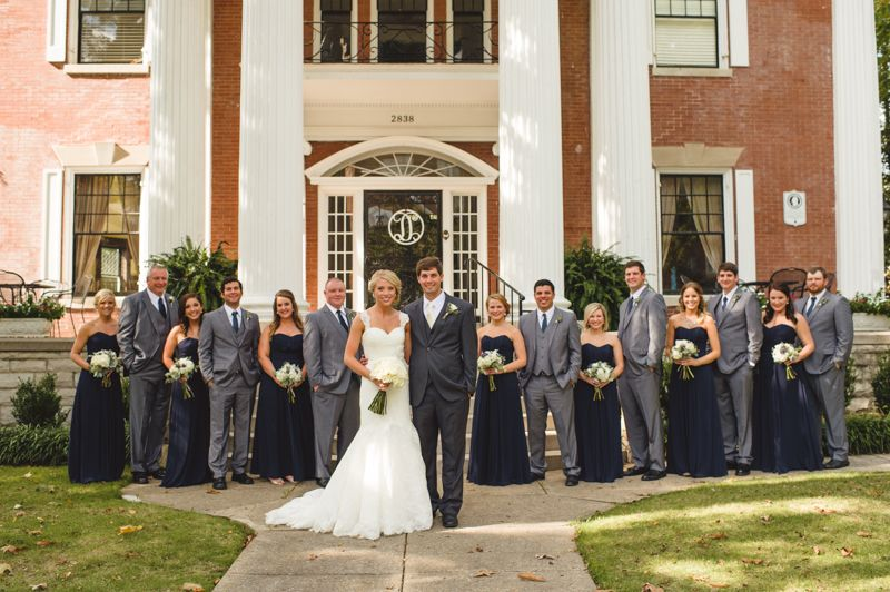 Spindle Photography Birmingham Al Wedding Photographer Kelly Mings Navy And Gold Donnelly House