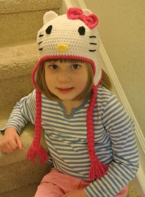Hand Crocheted Hello Kitty Hat Hello Kitty For Xmas Pinterest