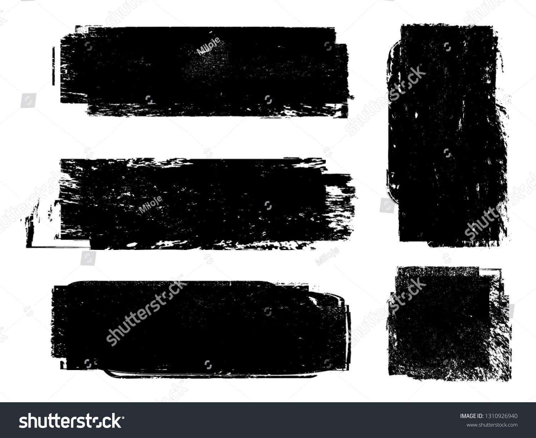 Grunge Paint Roller Vector Brush Stroke Distressed Banner