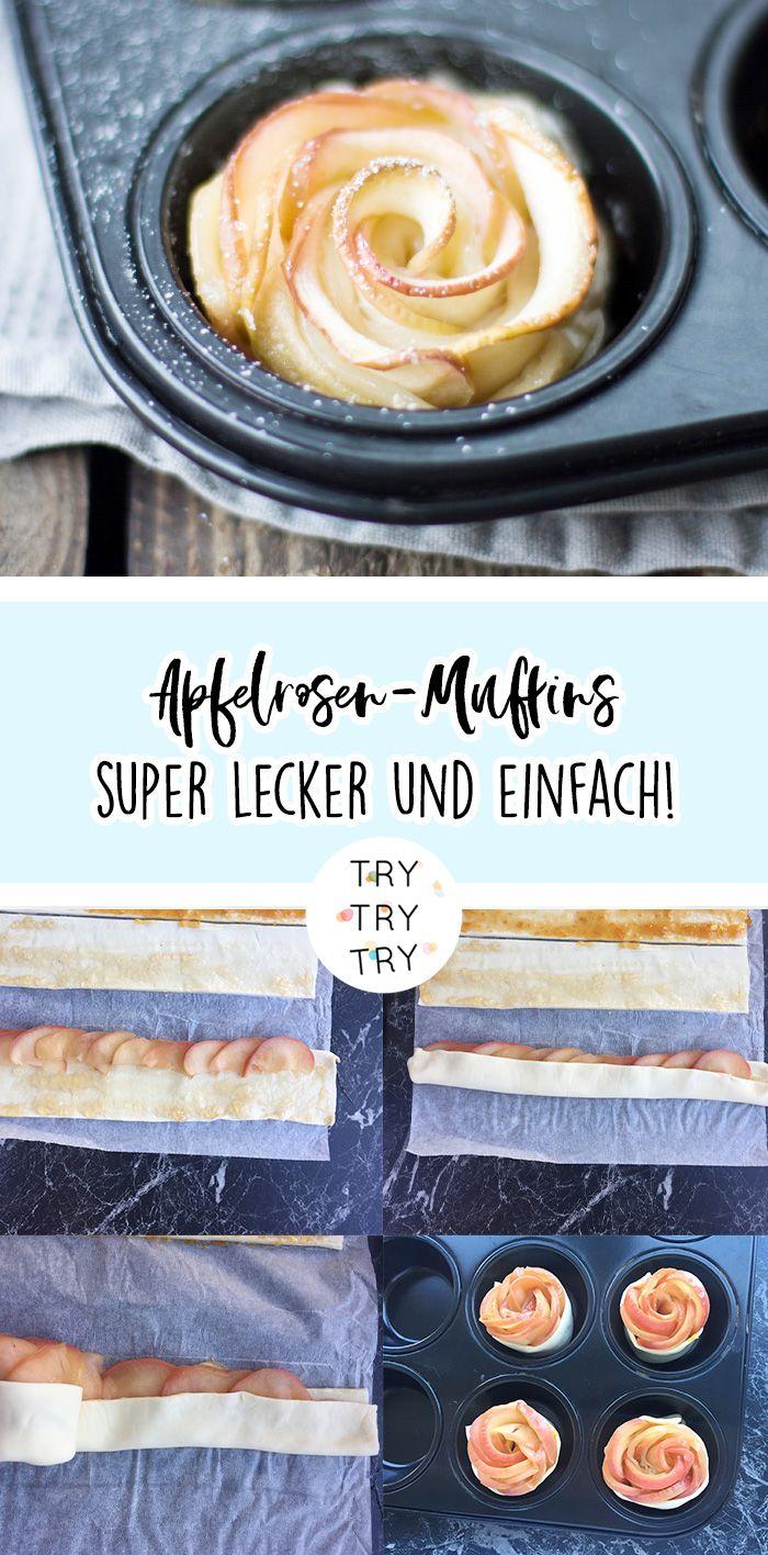 Apfelrosen-Muffins