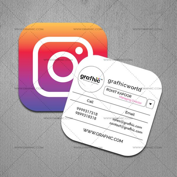Instafollow special shape business card buy innovative get your business cards designed by us to leave a lasting impression choose embossed or spot gloss options to add your business cards a striking look colourmoves Images