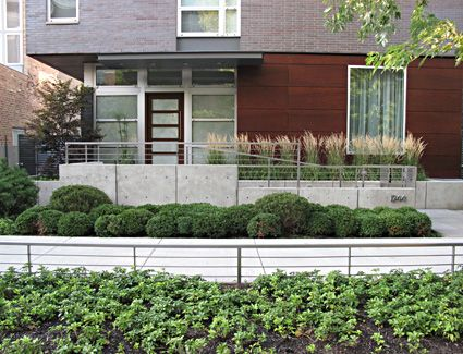 Landscape garden sleek streamlined contemporary home chicago specialty gardens