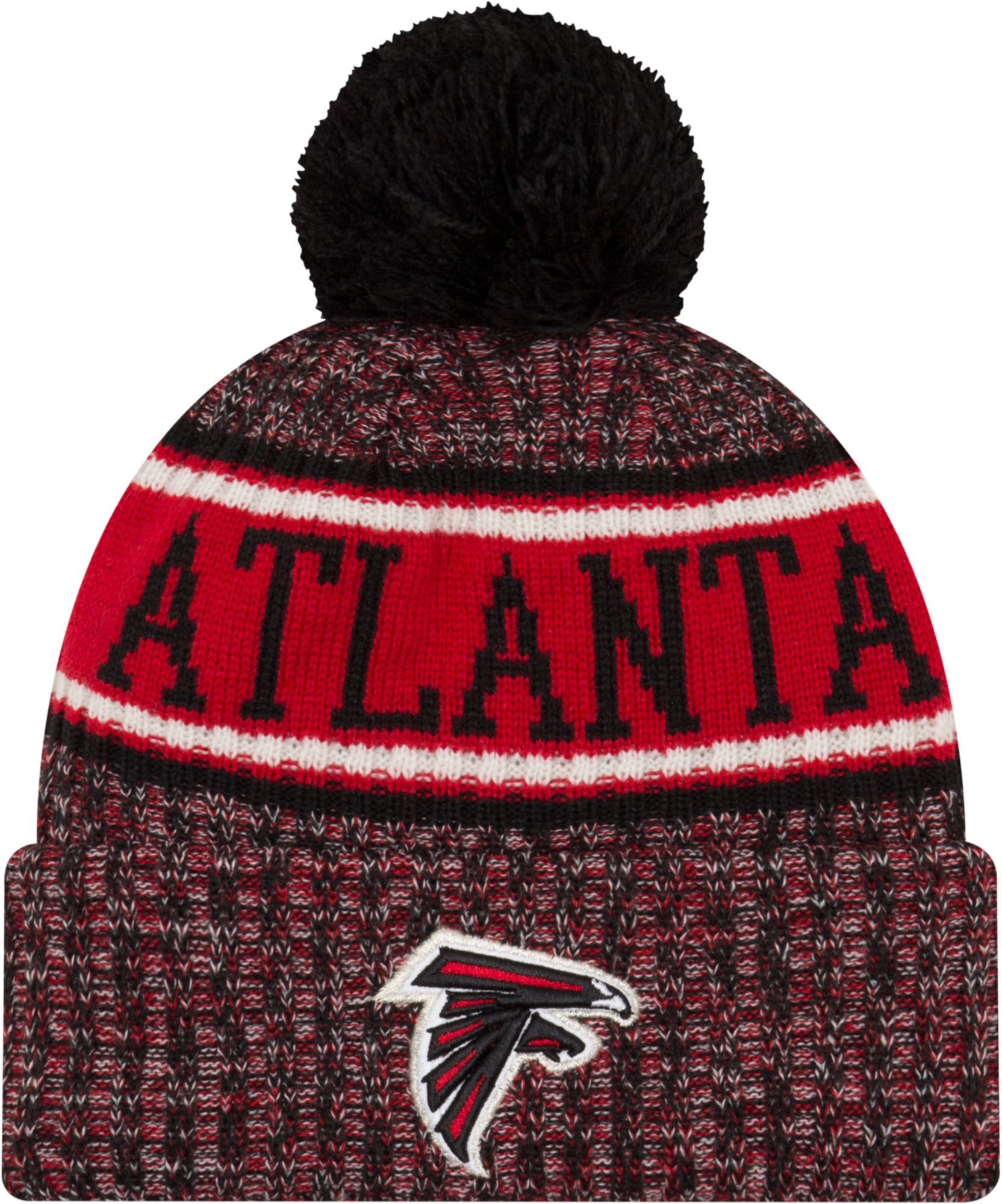 0e6f18e5750fef New Era Men's Atlanta Sideline Cold Weather Reverse Sport Black Knit ...