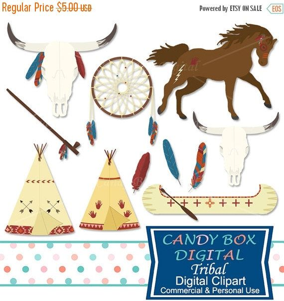 Boho Tribal Clipart, Indian And Southwestern Clip Art