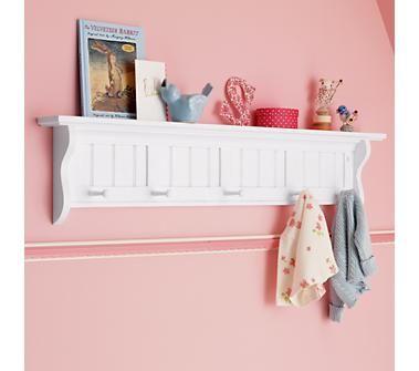 Kids  shelves white wooden beadboard peg shelf also    room