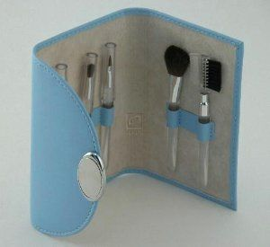 "BABY BLUE MAKE-UP BRUSHES, SET/5. by Creative Gifts. $18.99. Measures approx: 3.5"" X 5"",. BABY BLUE MAKE-UP BRUSHES, SET/5."