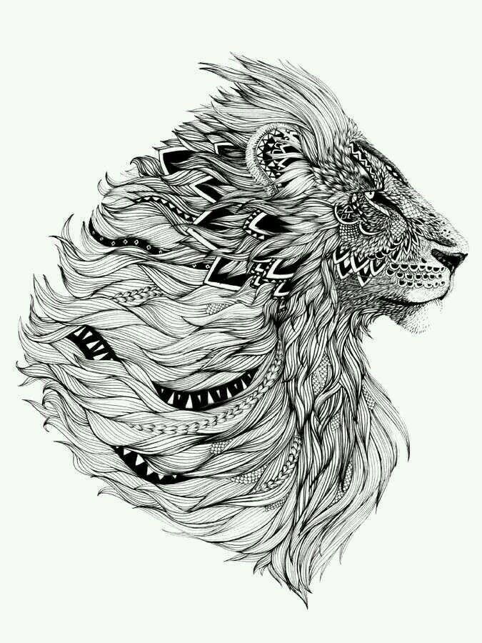 6ece3fb57 That's a whole lotta detail.   Tattoo ideas   Tattoos, Lion head ...