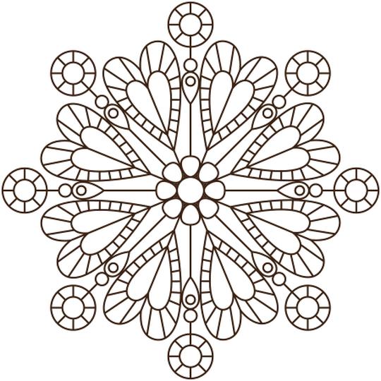 Coloriage mandala de coeur en ligne gratuit imprimer mariage pinterest coloriage mandala - Mandala de coeur ...