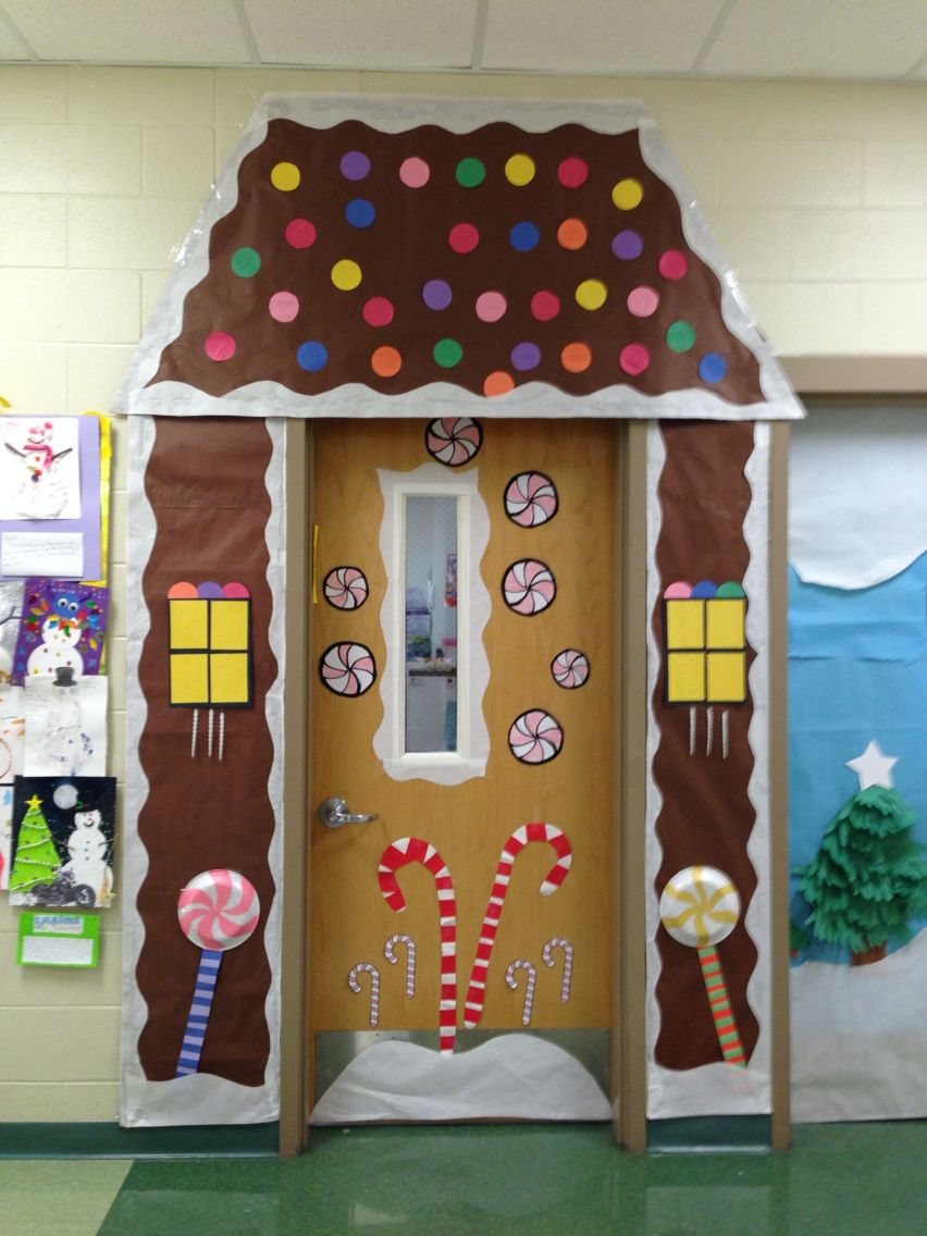 Candy land door decoration | Classroom christmas ...