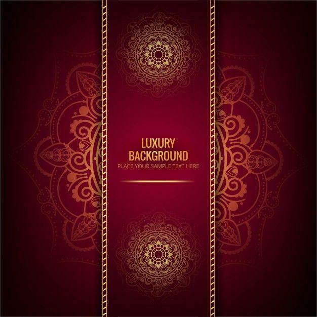 Luxury mandala background Free Vector ddd Pinterest Mandala - best of luxury invitation vector