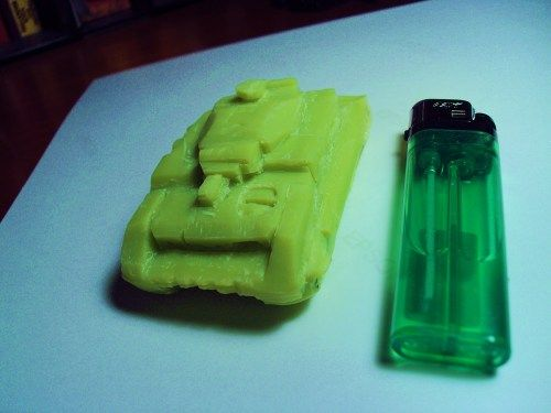 DerreckJ carved a Panzer IV out of a small bar of soap.