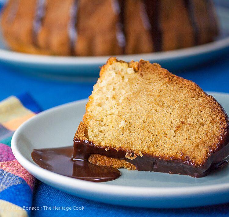 Bourbon vanilla bundt cake with chocolate glaze recipe