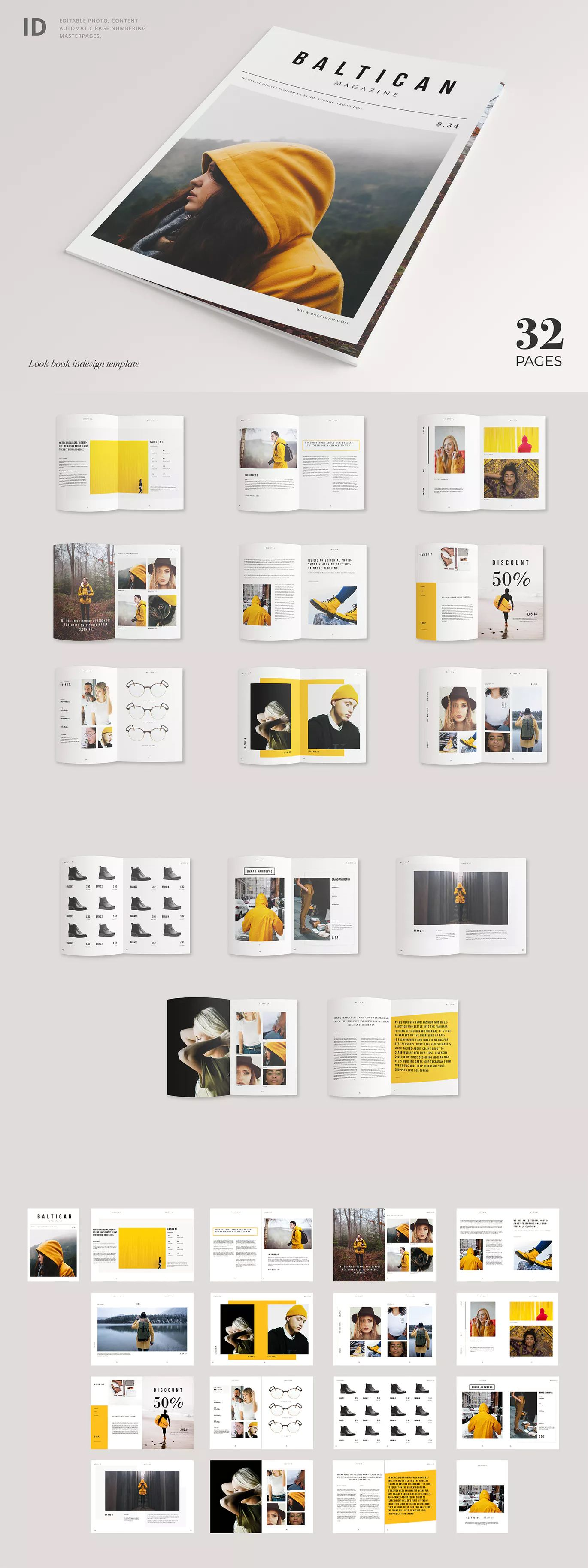 Magazine Template Indesign Indd A4 Size 0125 Bleed Cut