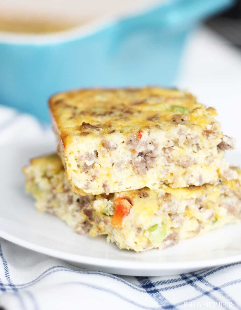 This is literally the best breakfast casserole recipe ever! It's super easy to make, and is full of eggs, sausage, cheese and everything good!