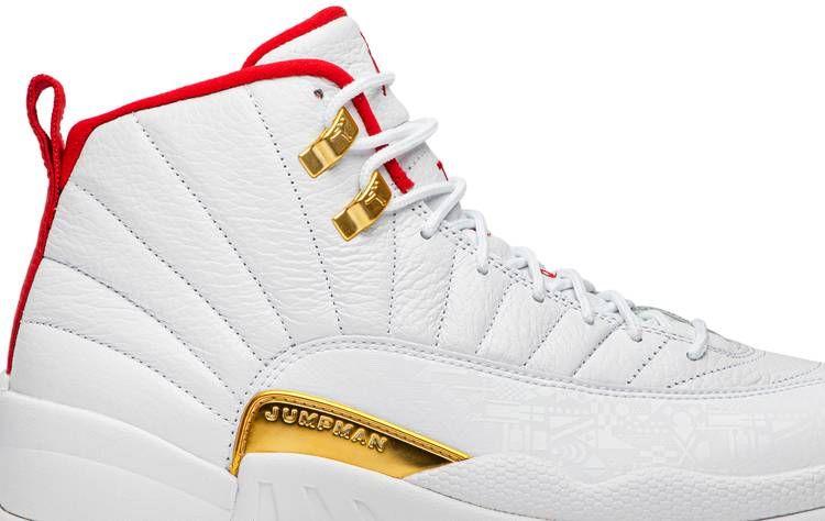 Nike Air Jordan 12 Retro FIBA CHINA WHITE RED GOLD NEW YEAR CNY 130690-107 sz 18
