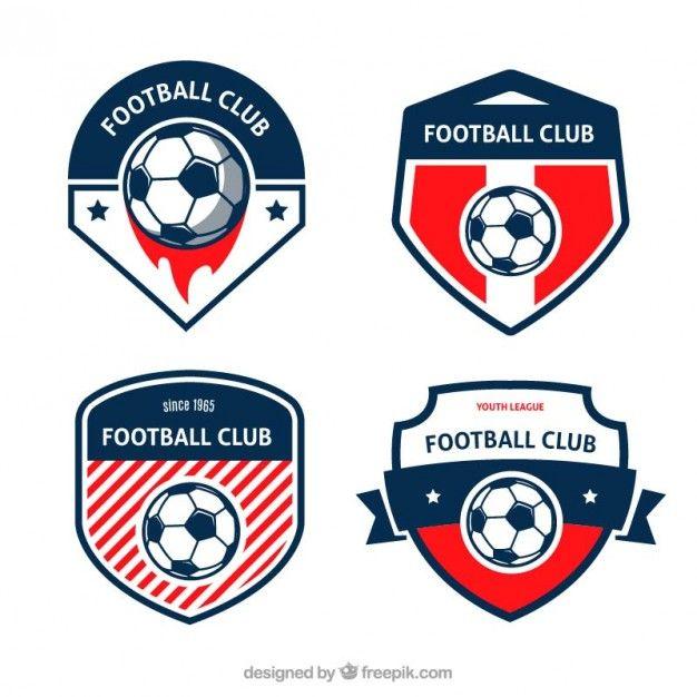 Football Badges Set Free Vector Logo Design Inspiration Graphics Soccer Logo Sports Logo Design