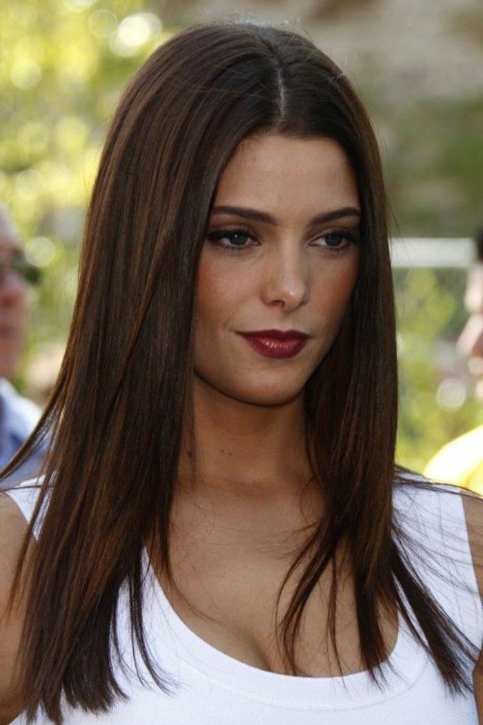 dark brown long straight hair # dark brown # hair trends # smooth # hair colors # long in 2020 ...