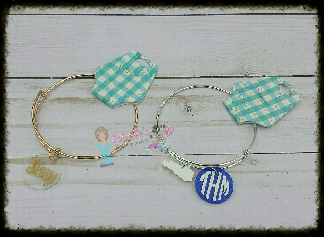 Monogram kentucky bracelet christyus creative designs pinterest