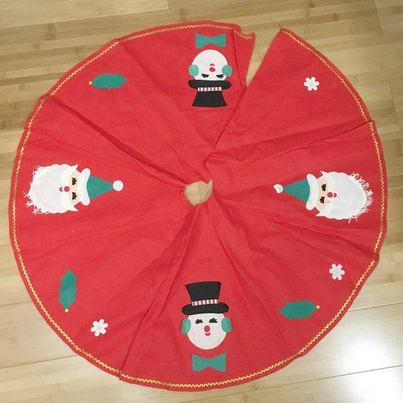 Vintage Felt Christmas Tree Skirt Etsy Shop - Vintage Holiday
