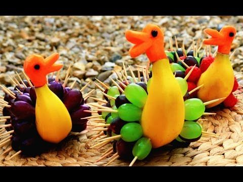 How It's Made Banana Rubber Ducks | Fruit Carving Garnish | Party Garnis...