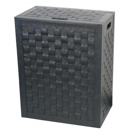 KOH-I-NOOR Intercci Wäschekorb Badezimmer in Schwarz einrichten - badezimmerschrank mit wäschekorb