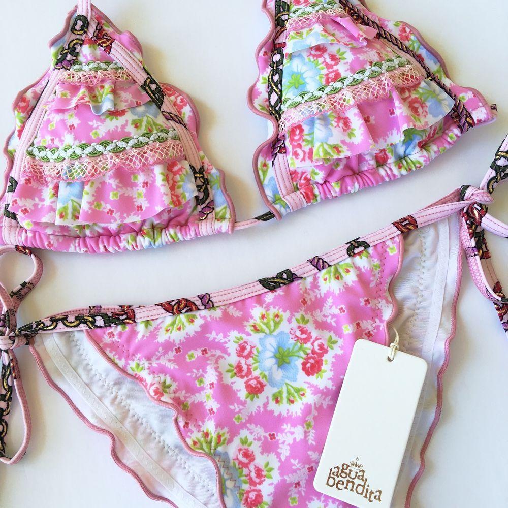 Agua Bendita Swimwear New With Tags Bikini Set Size M Bathing Suit Colombia | eBay