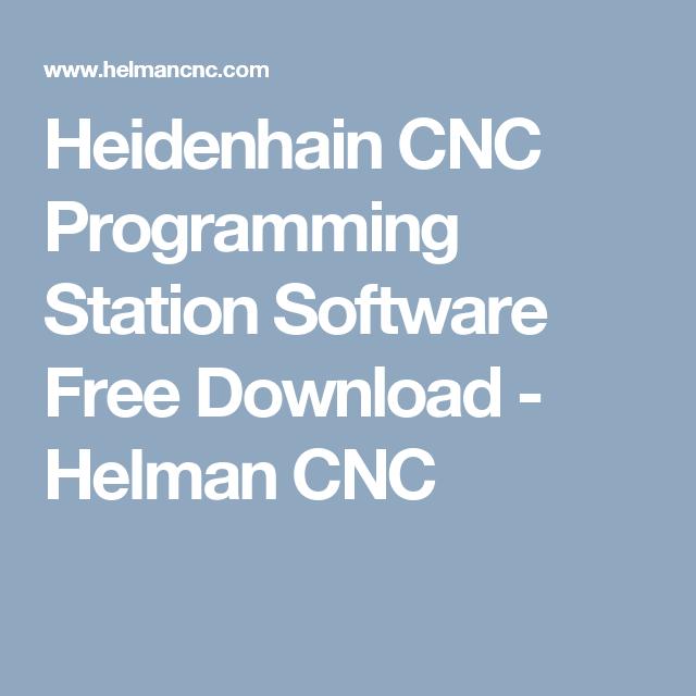 Heidenhain CNC Programming Station Software Free Download - Helman