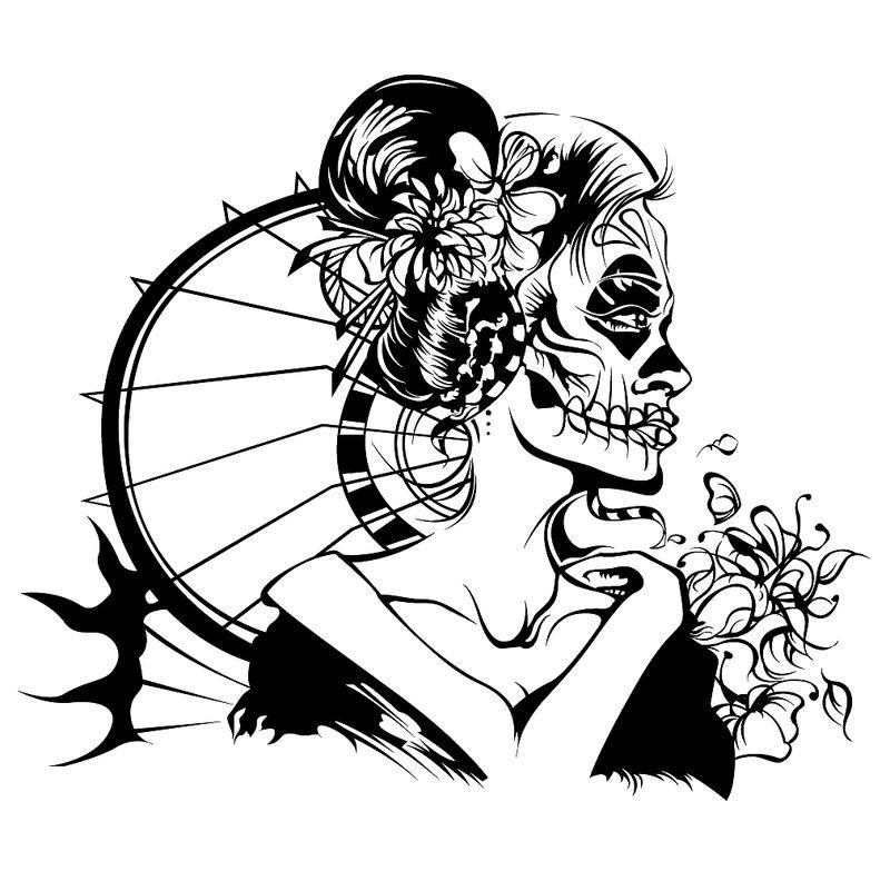 Skeleton Geisha By Me And Leo