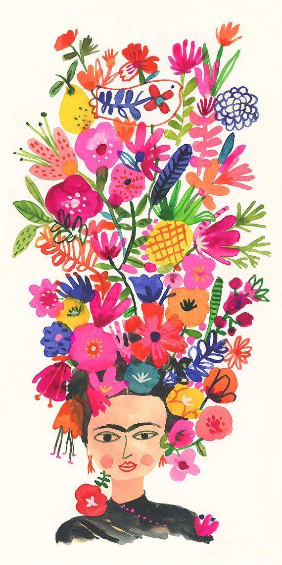 Frida portrait #fridakahlopaintings