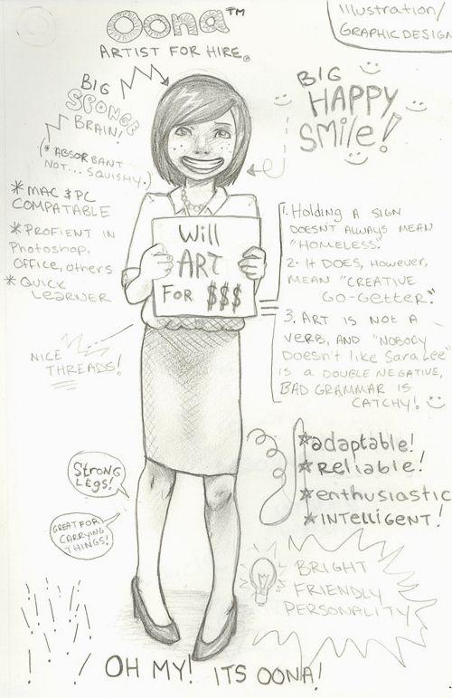 Oona\u0027s Adorable Artist Resume Creative Work ❁❀❁♫ Pinterest