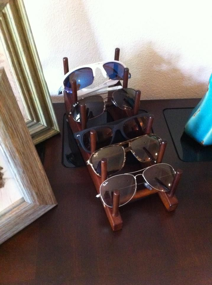 Plate rack turned Sunglass display!
