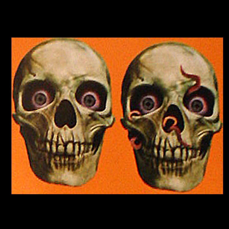 3.97 4Pc GothicHuman Skeleton Skull CutoutParty Door