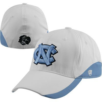 North Carolina Tar Heels White Stretch Fit Hat #tarheels #unc #northcarolina