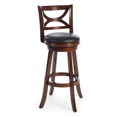 Boraam Florence 34 In Extra Tall Swivel Bar Stool Red Swivel