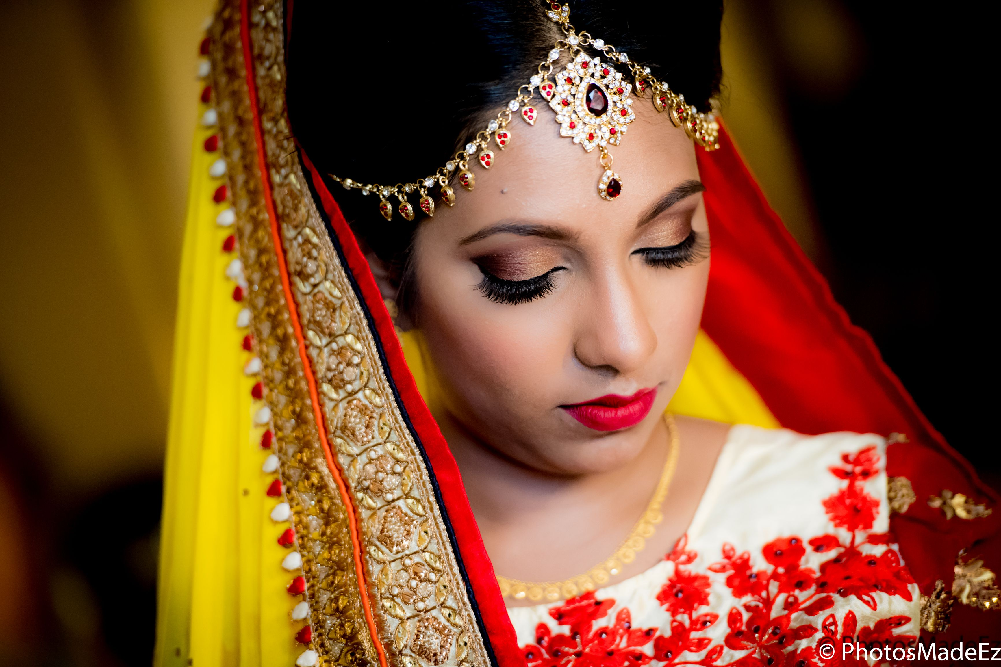 Bride Portrait Nadia and Ravi Guyanese Wedding at Mahwah