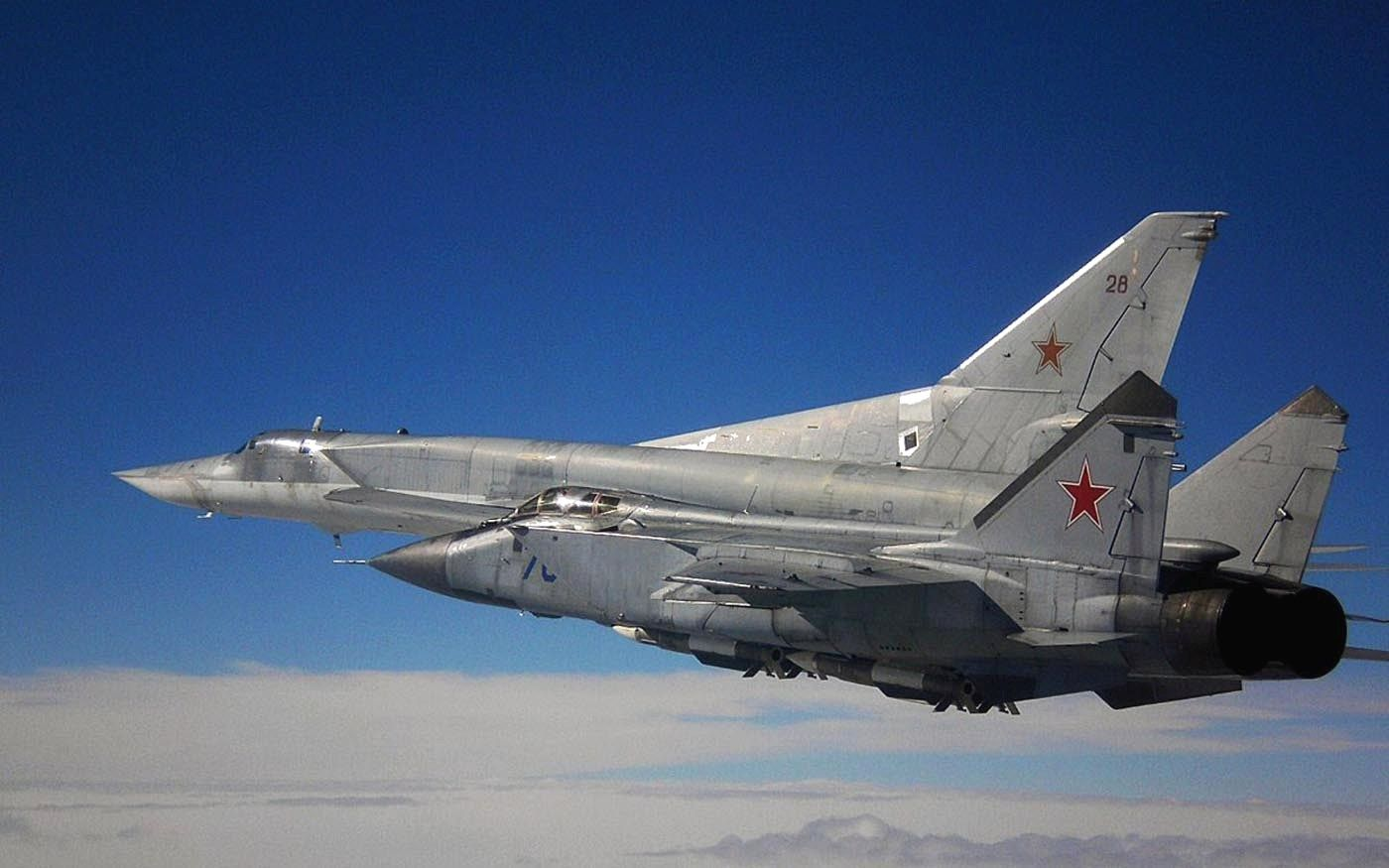 "MiG-31 ""Foxhound"" and Tupolev Tu-22 .Russian Air Force."