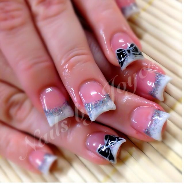 Moon Shape Ombre Glitter Makeup Nails Nail Designs Nail Art