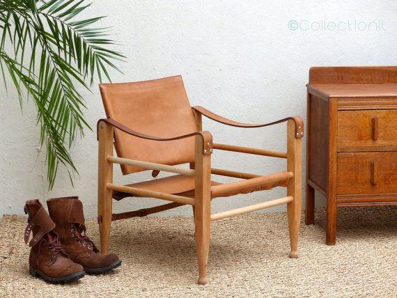 Chair By Kaare Klint Scandinavian Safari Leather Mid Century Leather Armchair Armchair Scandinavian Armchair Mid Century Leather Armchair Leather Armchair