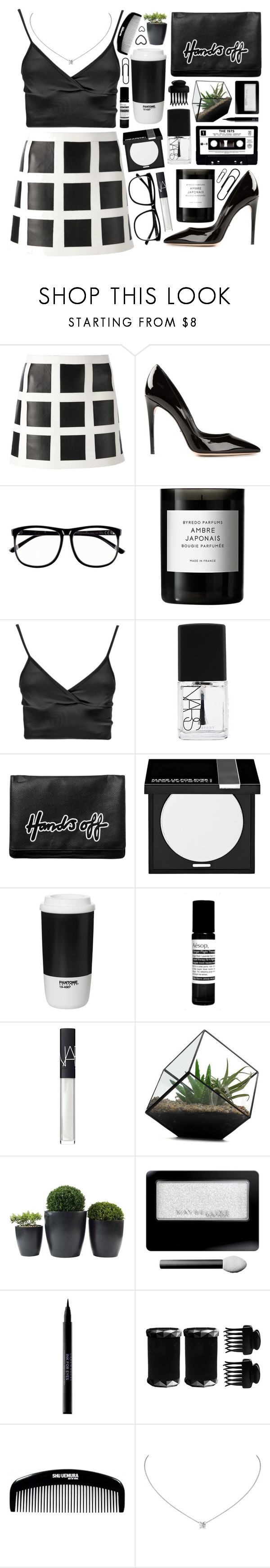 """""""Outfit 196"""" by holass ❤ liked on Polyvore featuring Dsquared2, Dolce&Gabbana, H&M, Byredo, Boohoo, NARS Cosmetics, Monki, MAKE UP FOR EVER, ROOM COPENHAGEN and Aesop"""