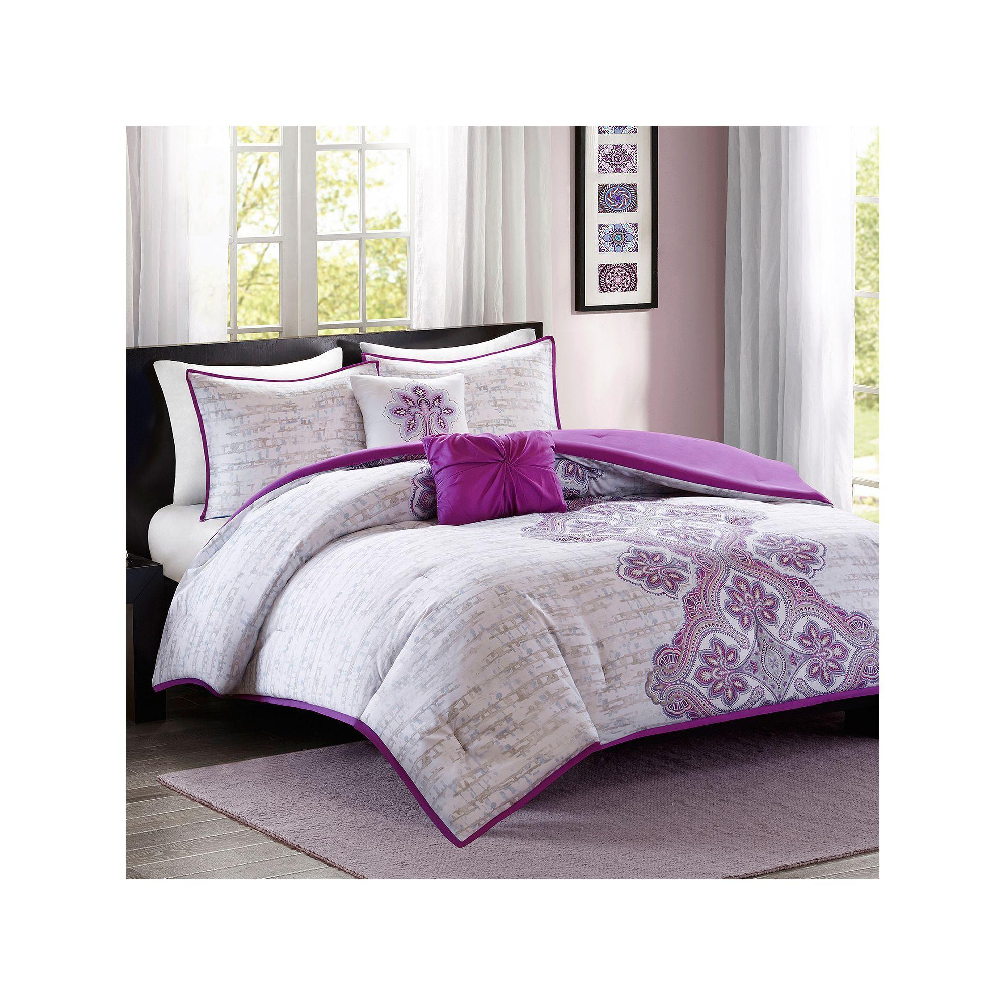 Intelligent Design Hannah Comforter Set, Purple