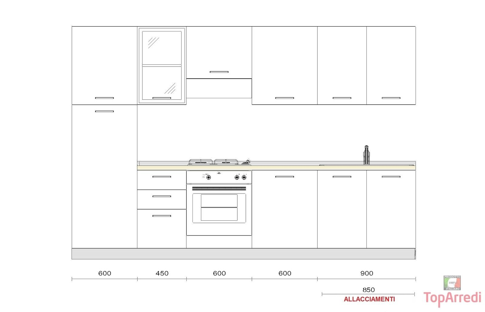Misure cucina standard cerca con google abitare like - Cucina standard misure ...