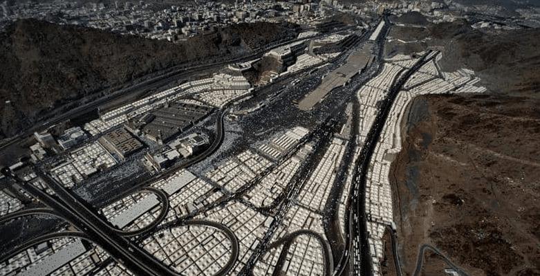 وادي م نى أكبر شعائر الحج مساحة والوادي الأهم للمسلمين Pilgrimage City Photo Aerial