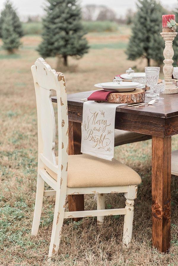 Rustic Christmas Farm Wedding Inspiration | Christmas wedding ...