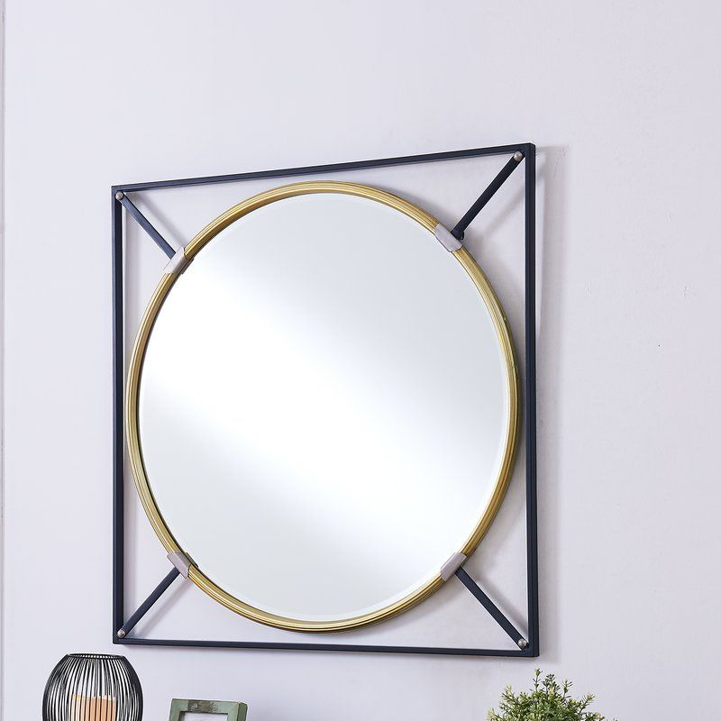 Shultis Oversized Decorative Wall Accent Mirror With Images