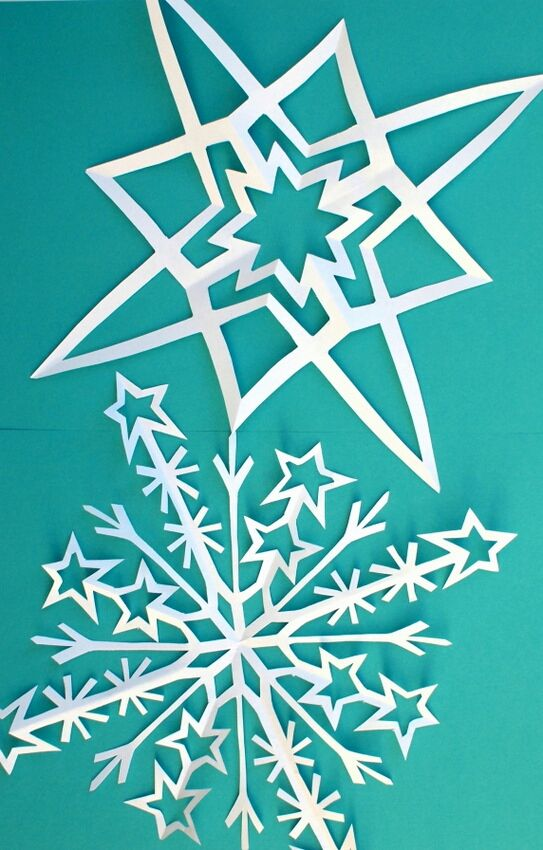 How to cut star snowflakes -neat!