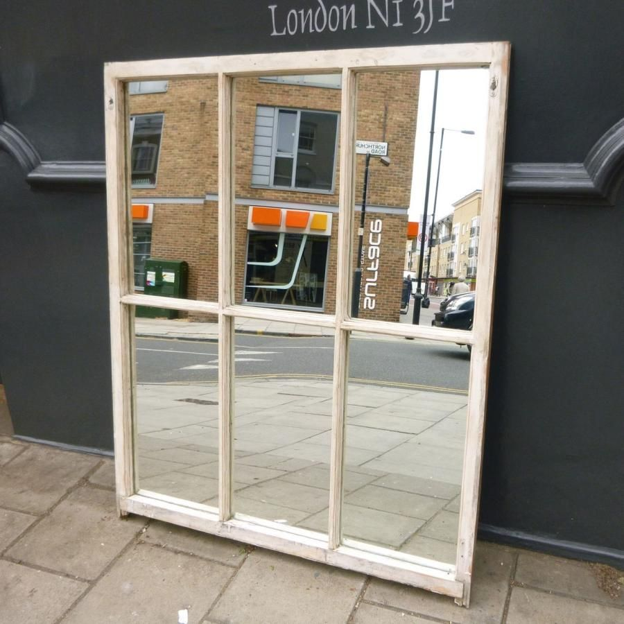 Upcycled Window Panes Antique Six Pane Sash Mirror Architectural Forum