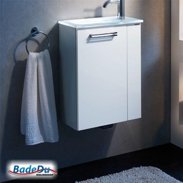 Waschtischunterschrank Gäste Wc gäste wc set weiß 2 teilig waschtisch waschtischunterschrank
