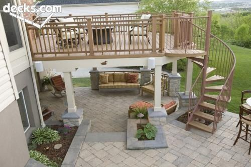 Best Deck Spiral Stair And Covered Porch By Cawyn Patio 400 x 300