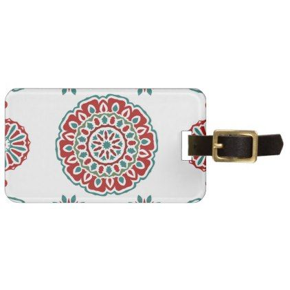 Retro Colorful Bohemian Abstract Floral Pattern Luggage Tag   Pattern Sample  Design Template Diy Cyo Customize